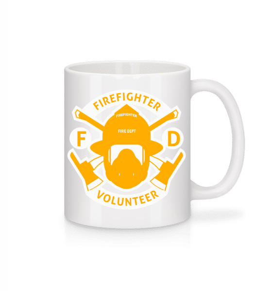 Firefighter Volunteer - Mug - White - Vorn