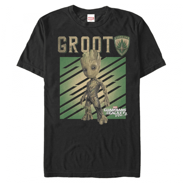 Groot Tree - Marvel Guardians of the Galaxy - Men's T-Shirt - Black - Front