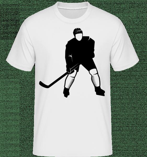 Ice Hockey Player -  Shirtinator Men's T-Shirt - White - Front