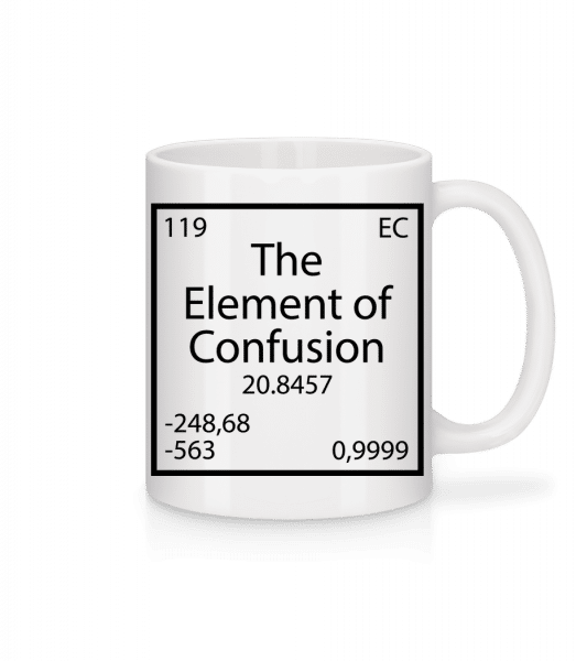 The Element Of Confusion - Mug - White - Vorn