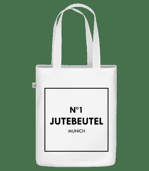 N1 Jutebeutel München - Bio Tasche - Weiß - Vorn