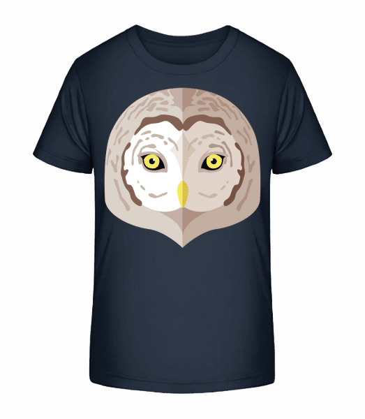 Owl Comic Shadow - Kid's Premium Bio T-Shirt - Navy - Front
