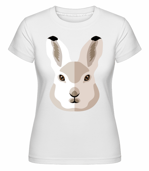Bunny Comic Shadow -  Shirtinator Women's T-Shirt - White - Vorn