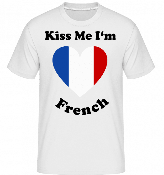 Kiss Me I'm French -  Shirtinator Men's T-Shirt - White - Vorn