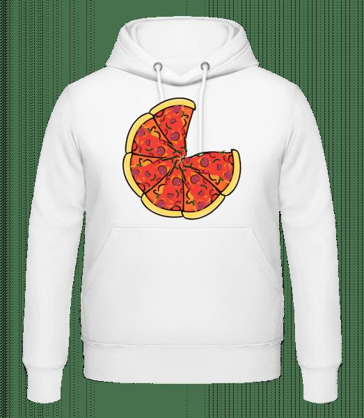 Pizza - Men's Hoodie - White - Vorn