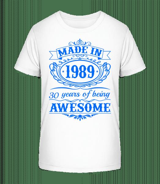 Being Awesome 89 - Detské Premium Bio tričko - Biela - Predné