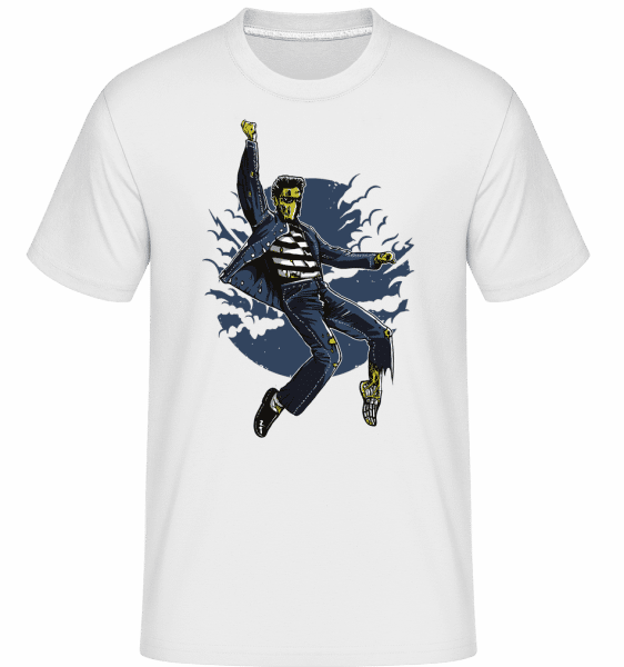 Zombie King -  Shirtinator Men's T-Shirt - White - Vorn