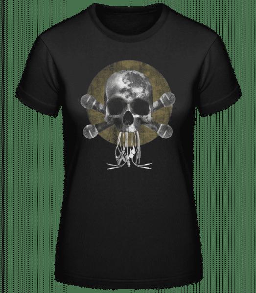 Crâne Avec Microphone - Basic T-Shirt - Black - Vorn