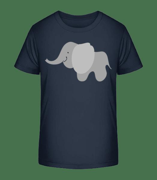 Kids Comic - Elephant - Kid's Premium Bio T-Shirt - Navy - Front