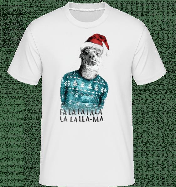 Weihnachts Lama - Shirtinator Männer T-Shirt - Weiß - Vorn