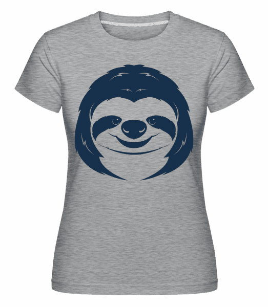 Cute Sloth Face -  Shirtinator Women's T-Shirt - Heather grey - Vorn