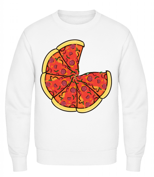 Pizza - Classic Set-In Sweatshirt - White - Vorn