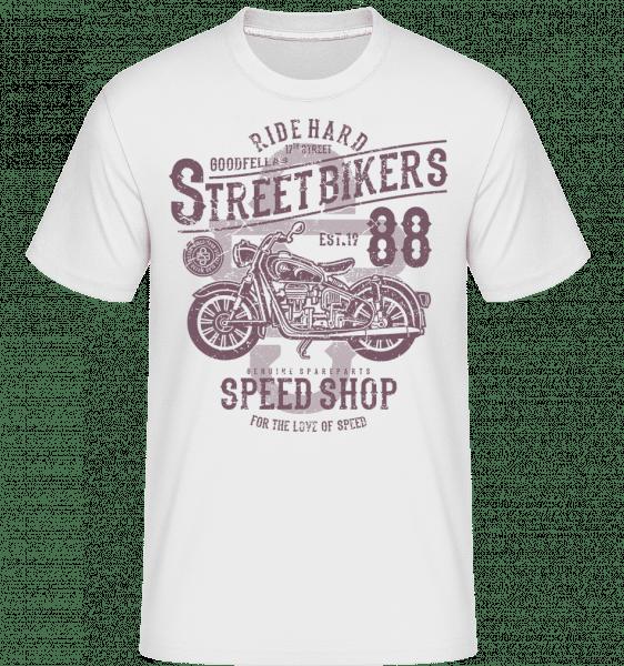 Street Bikers -  Shirtinator Men's T-Shirt - White - Vorn