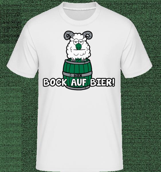 Bock Auf Bier - Shirtinator Männer T-Shirt - Weiß - Vorn