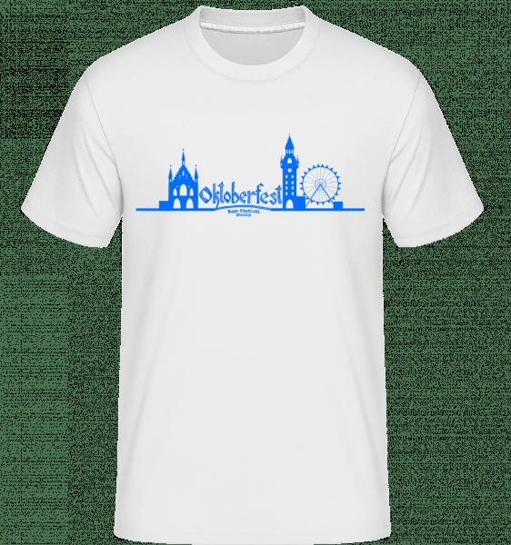 Mníchov Oktoberfest -  Shirtinator tričko pre pánov - Biela - Predné