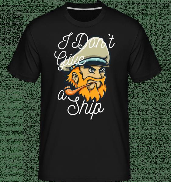 I Dont Give A Ship -  Shirtinator Men's T-Shirt - Black - Front