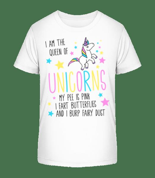 I'm The Queen Of Unicorns - Kid's Premium Bio T-Shirt - White - Vorn