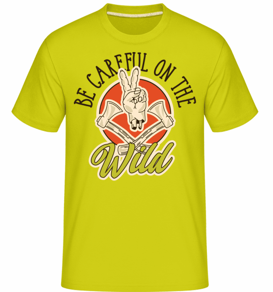 Be Careful On The Wild -  Shirtinator Men's T-Shirt - Lime - Vorn