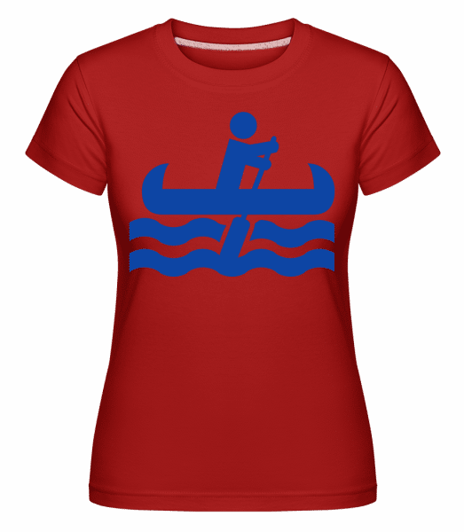 Kayak Simple Symbol -  Shirtinator Women's T-Shirt - Red - Vorn