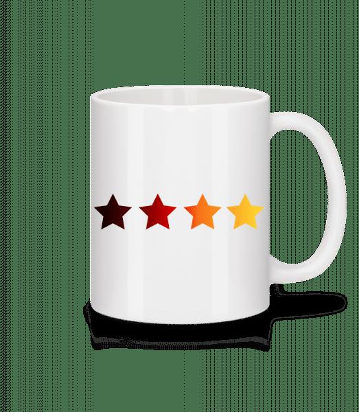 German Flag Stars - Mug - White - Vorn