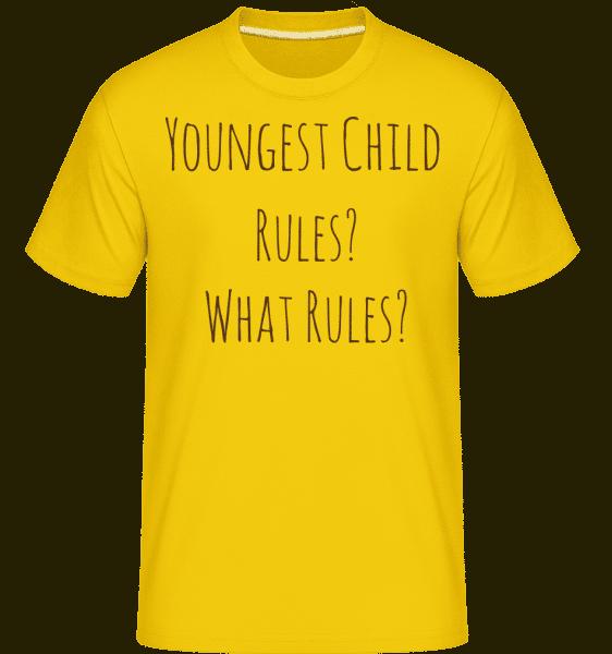 Youngest Child -  Shirtinator Men's T-Shirt - Golden yellow - Front