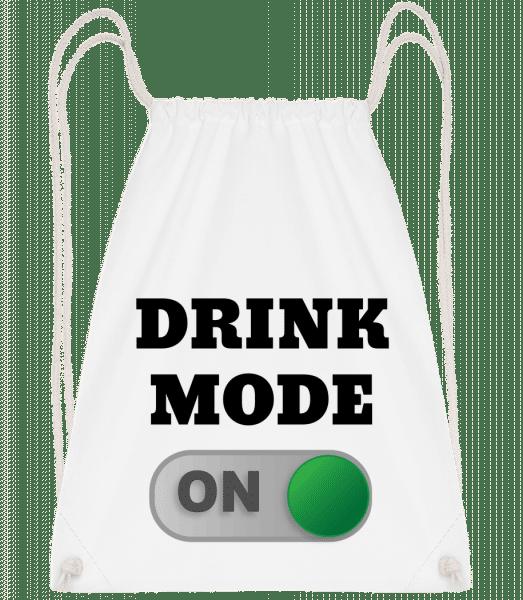 Drink Mode On - Sac à dos Drawstring - Blanc - Vorn