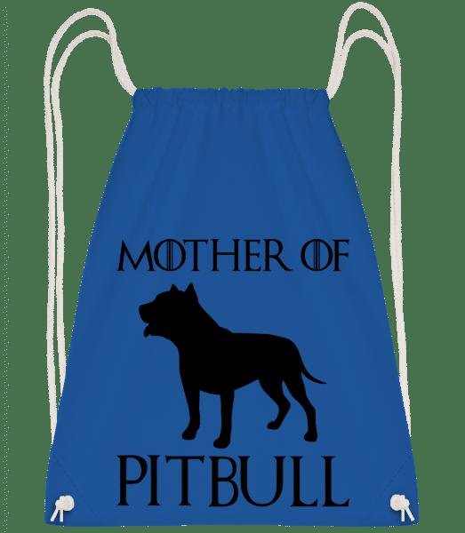 Mother Of Pitbull - Drawstring Backpack - Royal Blue - Vorn