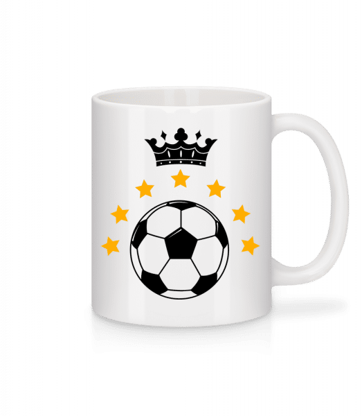 Football Crown - Mug - White - Vorn