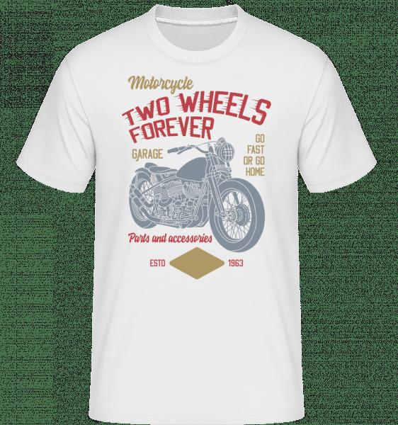 Two Wheels Forever -  Shirtinator Men's T-Shirt - White - Front