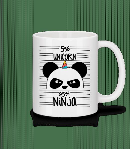 5% Unicorn 95% Ninja - Mug - White - Front