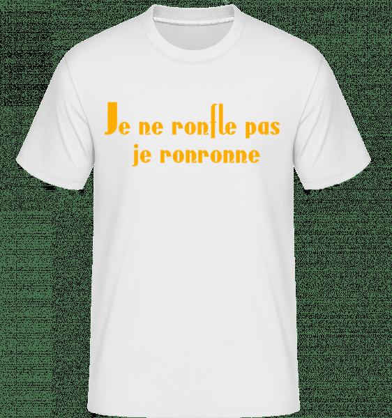 Je Ne Ronfle Pas Je Ronronne -  T-Shirt Shirtinator homme - Blanc - Vorn
