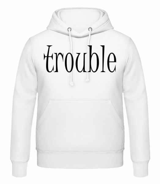 Trouble Makers Partner - Men's Hoodie - White - Vorn