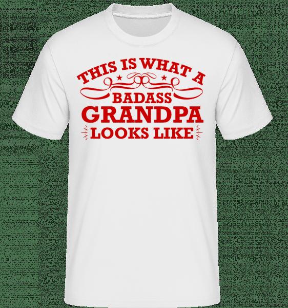 Badass Grandpa -  Shirtinator Men's T-Shirt - White - Vorn