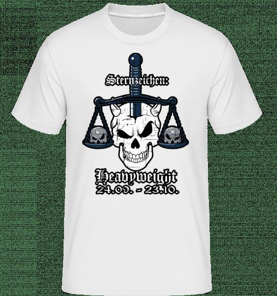 Metal Sternzeichen Heavyweight - Shirtinator Männer T-Shirt - Weiß - Vorn