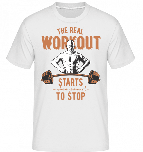 The Real Workout -  Shirtinator Men's T-Shirt - White - Vorn