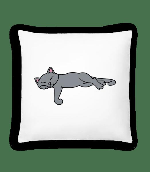 Sleeping Cat - Cushion - White - Vorn