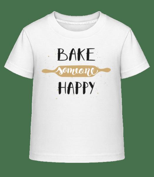 Bake Someone Happy - Kid's Shirtinator T-Shirt - White - Vorn