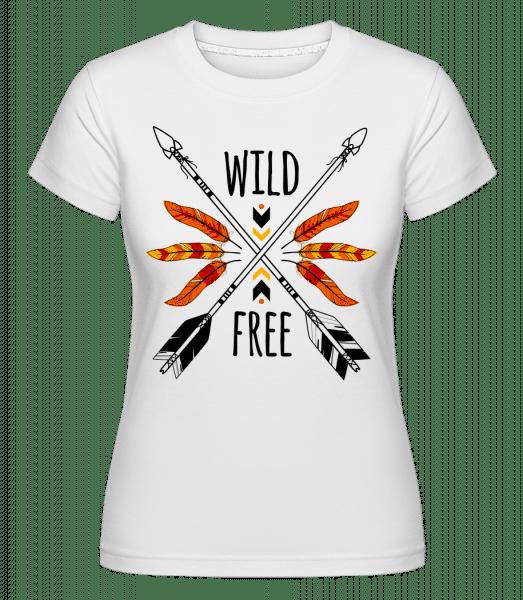 Wild And Free Logo -  Shirtinator Women's T-Shirt - White - Vorn