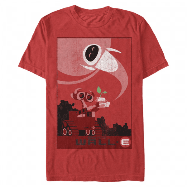 Plant Boot Wall-E & Eve - Pixar Wall-E - Men's T-Shirt - Red - Front