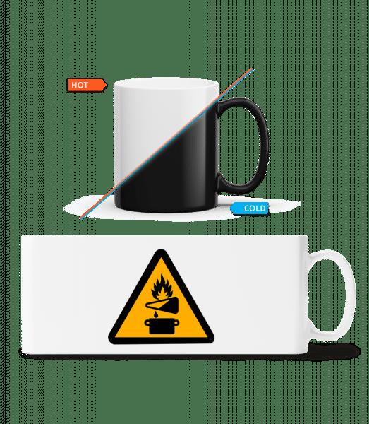 Attention Fire Hazard - Magic Mug - White - Vorn