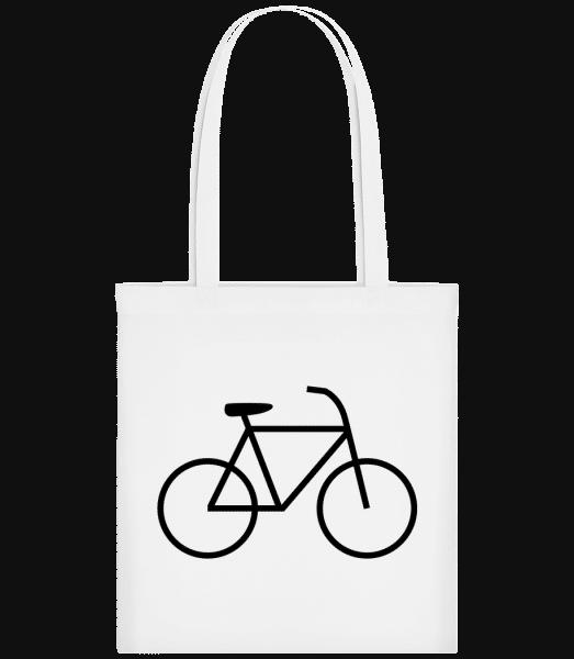 Fahrrad - Stoffbeutel - Weiß - Vorn