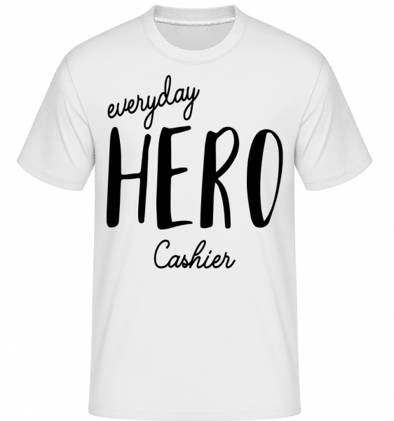 Everyday Hero Cashier - Shirtinator Männer T-Shirt - Weiß - Vorn