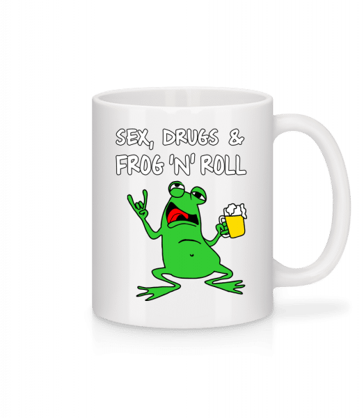 Sex Drugs & Frog'n'Roll - Mug - White - Vorn