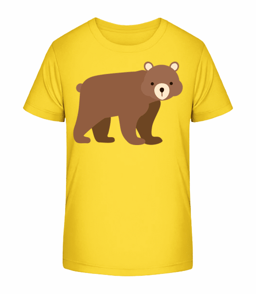 Baby Bear - Detské Premium Bio tričko - Žlutá - Napřed
