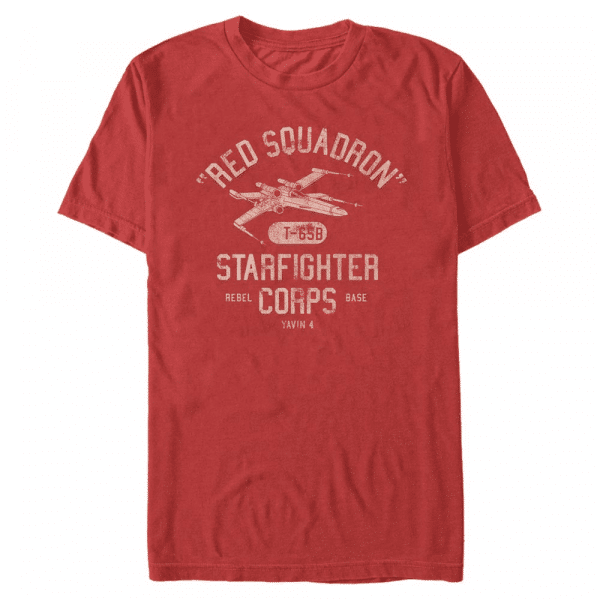 Starfighter Corps X-Wing - Star Wars - Men's T-Shirt - Red - Front