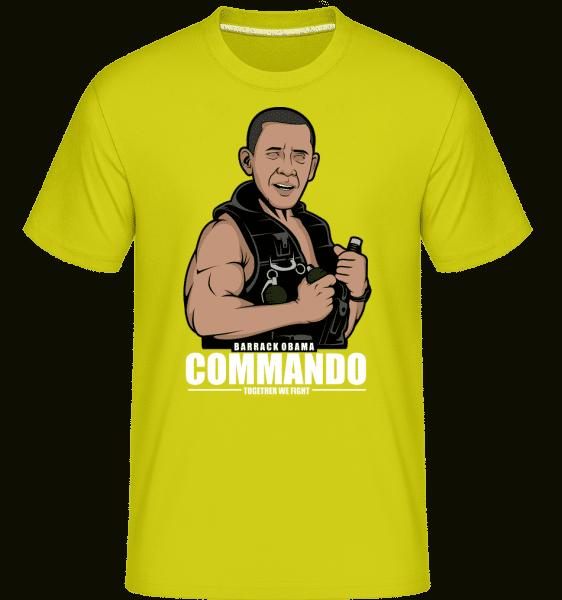 Obama Commando -  Shirtinator Men's T-Shirt - Lime - Vorn