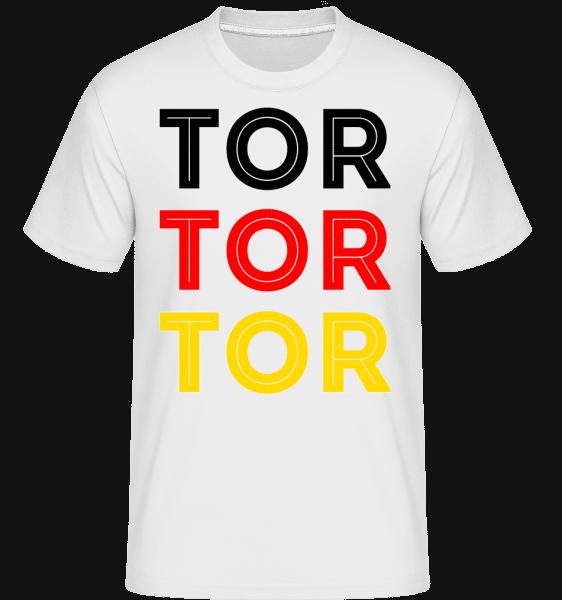 Tor Tor Tor - Shirtinator Männer T-Shirt - Weiß - Vorn
