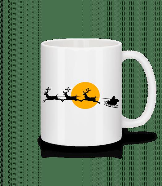 Weihnachten Mond - Tasse - Weiß - Vorn