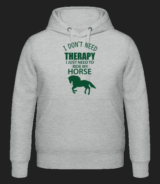 I Need To Ride My Horse - Unisex Hoodie - Heather grey - Vorn