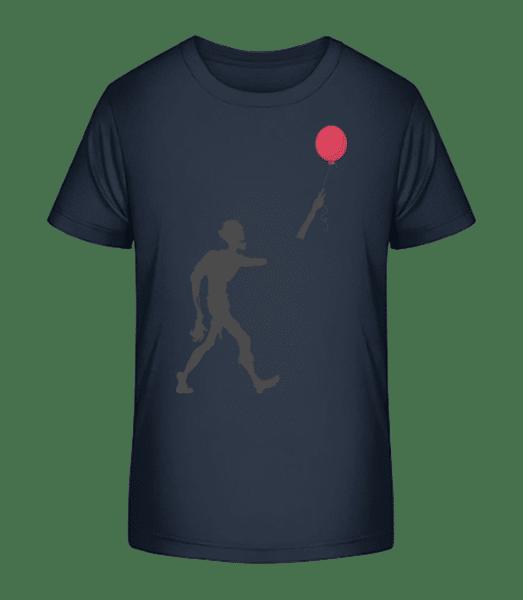 Zombie Balloon - Kid's Premium Bio T-Shirt - Navy - Vorn